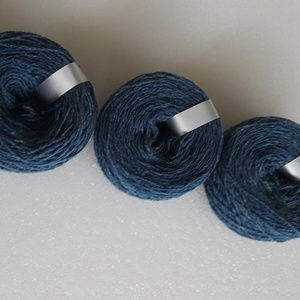 Yarn - acrylic/cotton bundle, blue  sport weight
